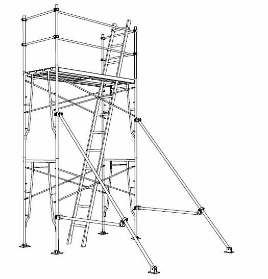 steel scaffolding rental UAE